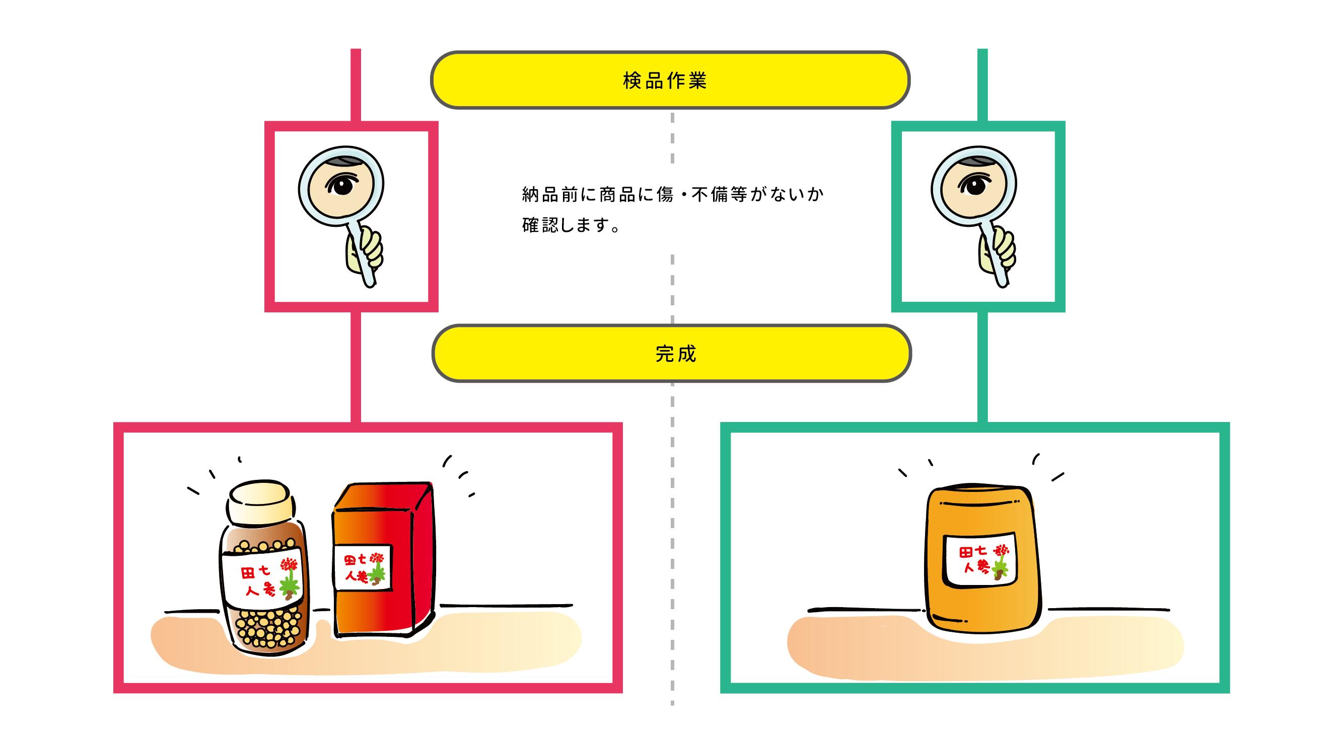 田七人参OEMシュミレーション4